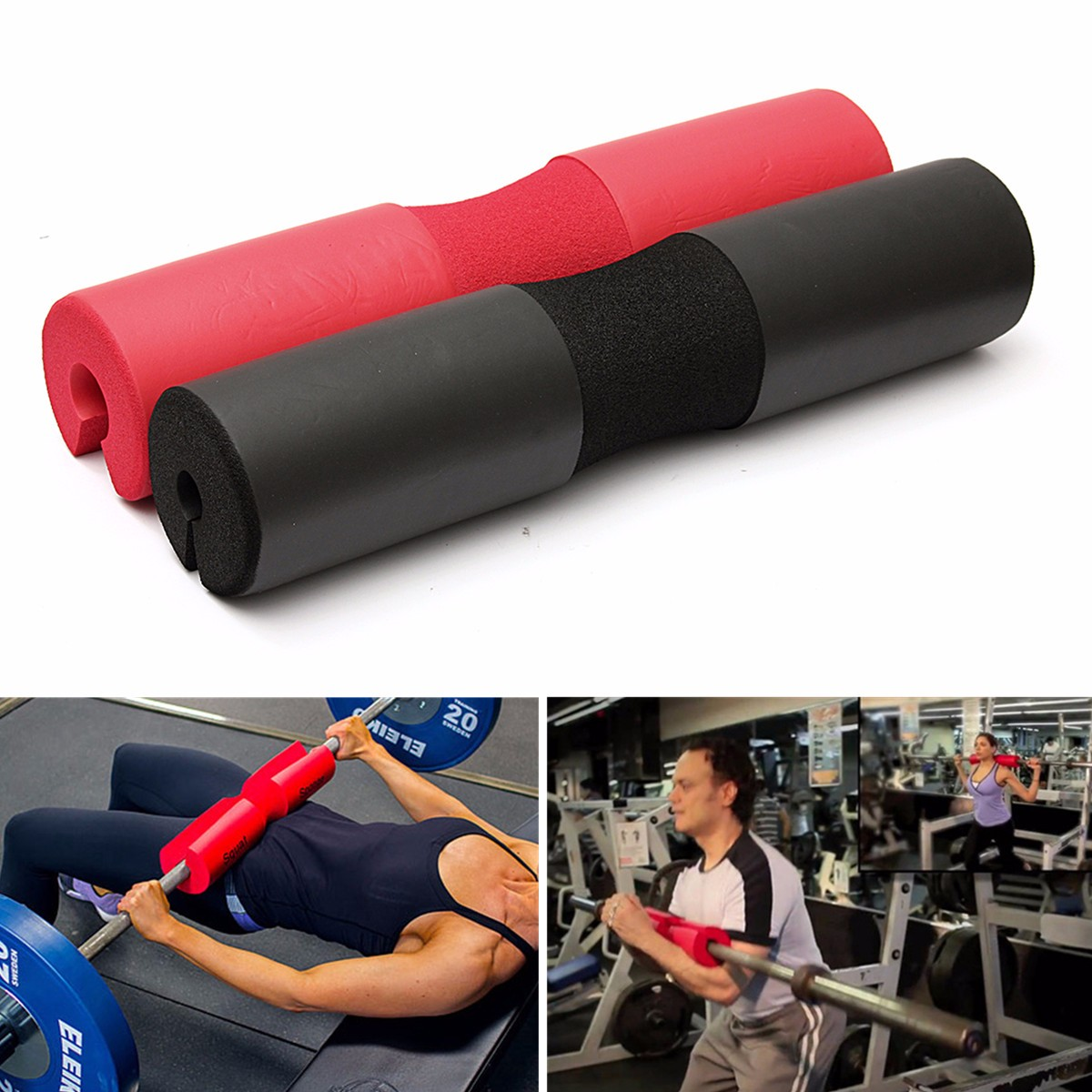 Barbell Squat Pad Sponge Cover Foam Shoulder Back Protecter for Squat Weight Lifting