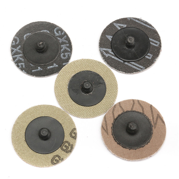 40pcs 40/80/120/240 Grits 2 Inch Roll Lock R Type Sanding Abrasive Disc