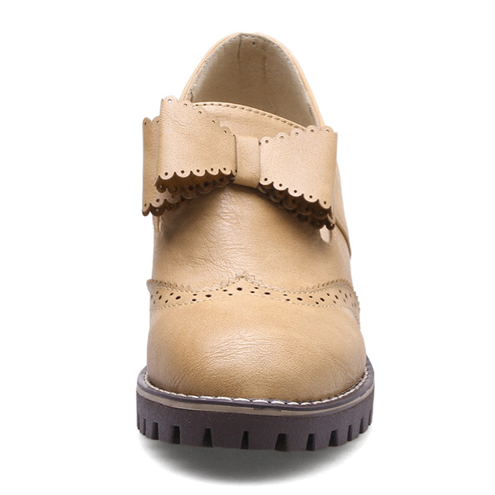 Women Oxford Retro Brogue Butterfly Knot Shoes