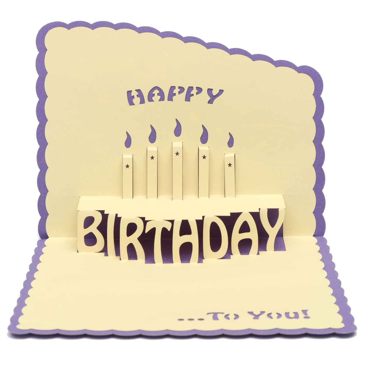 Happy Birthday 3D Greeting Card Pop Up Birthday Party Greeting Card With Envelope