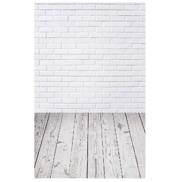 3x5ft Vinyl Photography Background White Brick Wall Floor Photography Background Photo Studio Backdrops