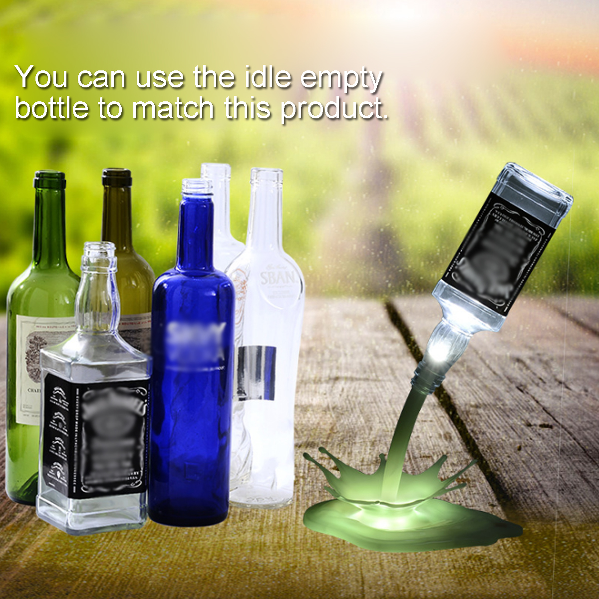3D USB LED Lamp Pouring Bottle Lamp Night light Table Desk Touch Control