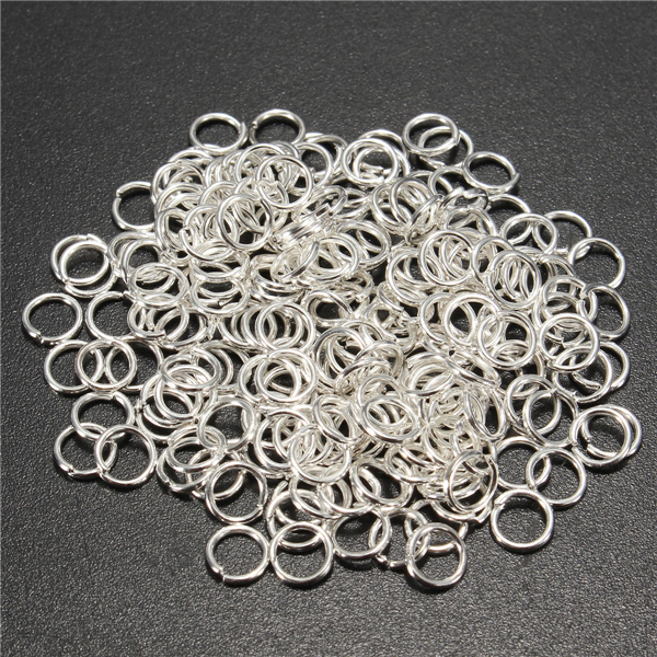 200pcs 5mm Jump Rings Open Connecctors Circle Metal Findings DIY Accessories