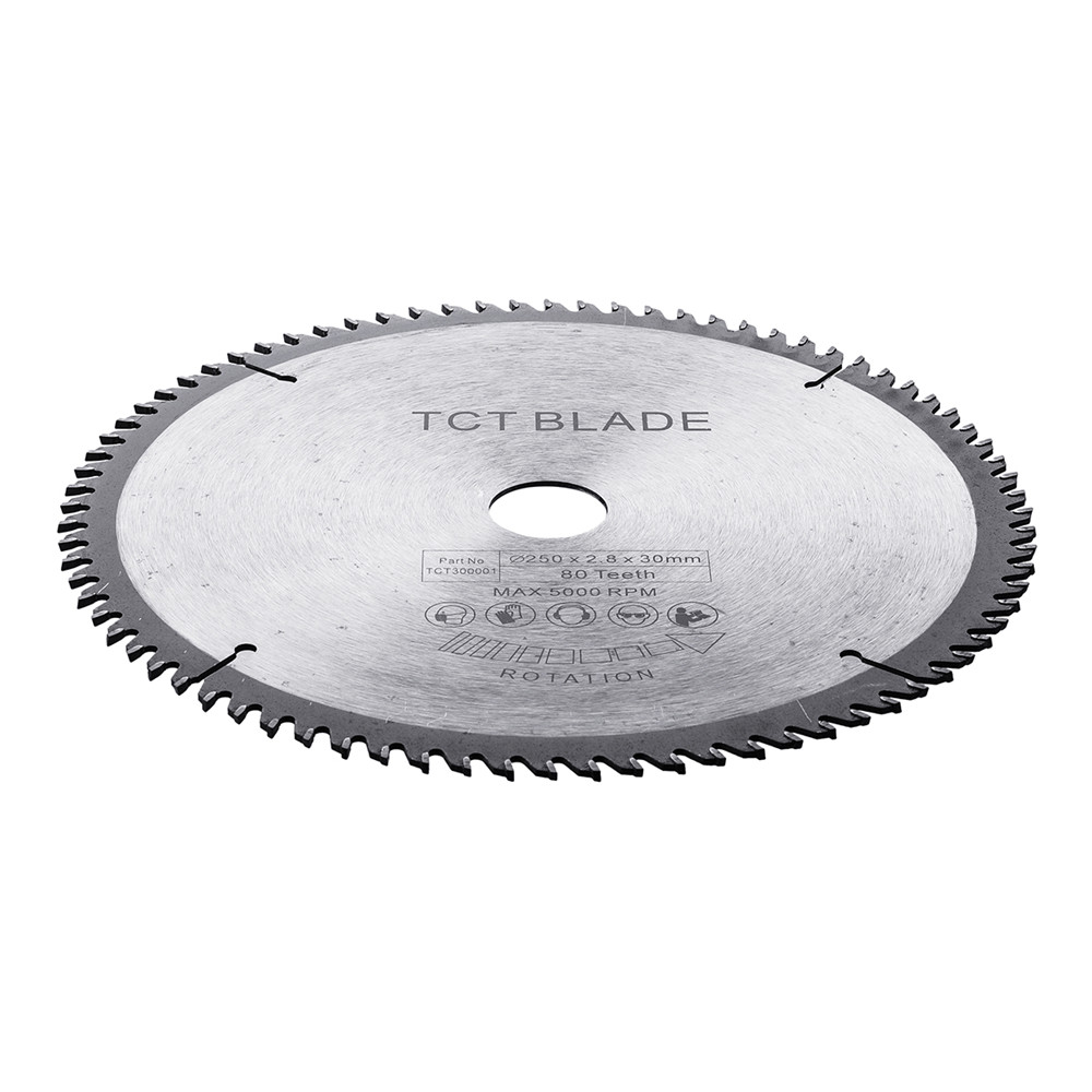 250x2.8x30x80T TCT hard alloy woodworking saw blades