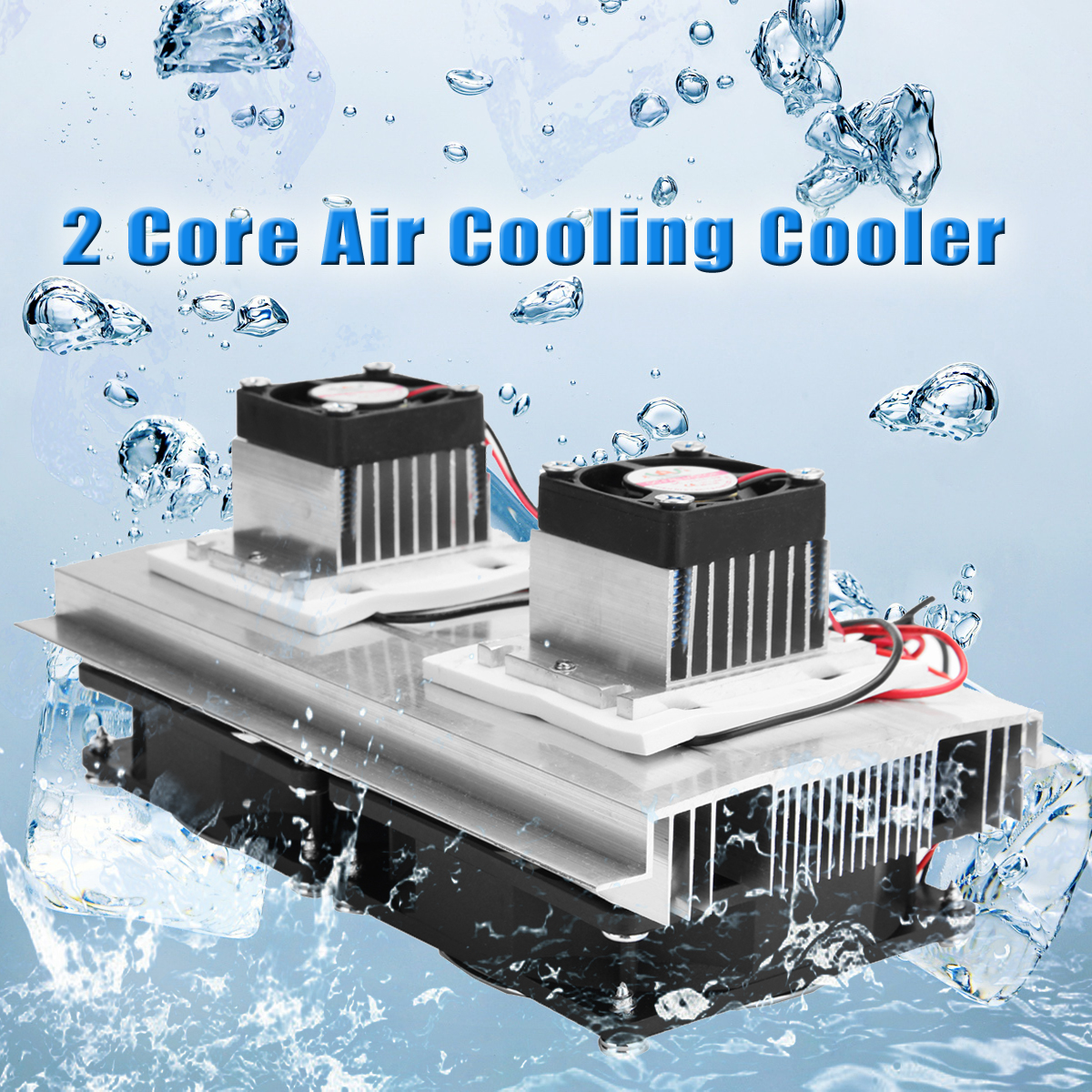 Dual-Core Thermoelectric Cooler DIY Peltier Refrigeration Cooling System Kit with Power Supply