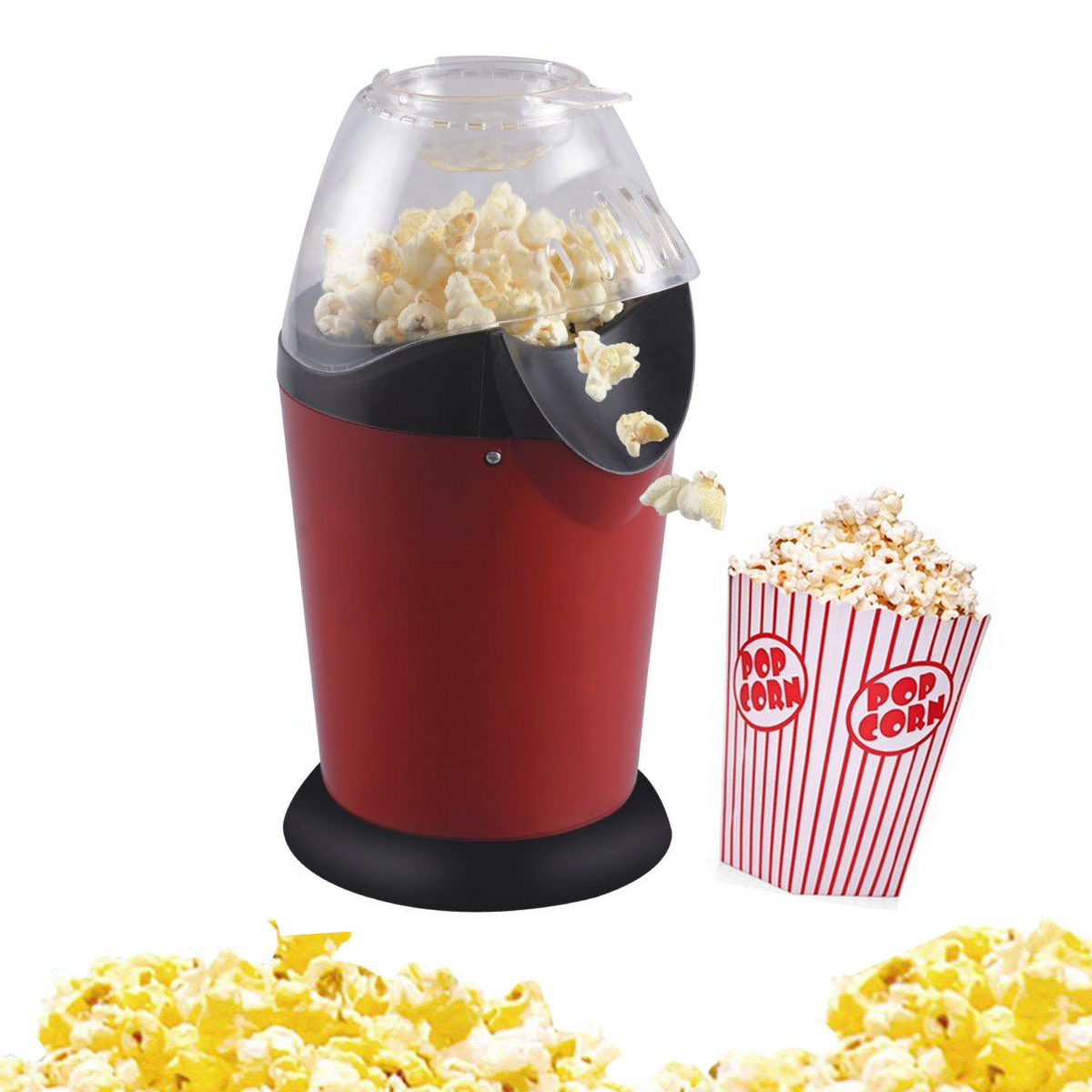 Mini Household Healthy Hot Air Oil-free Round Popcorn Maker Home Kitchen Eletric Machine