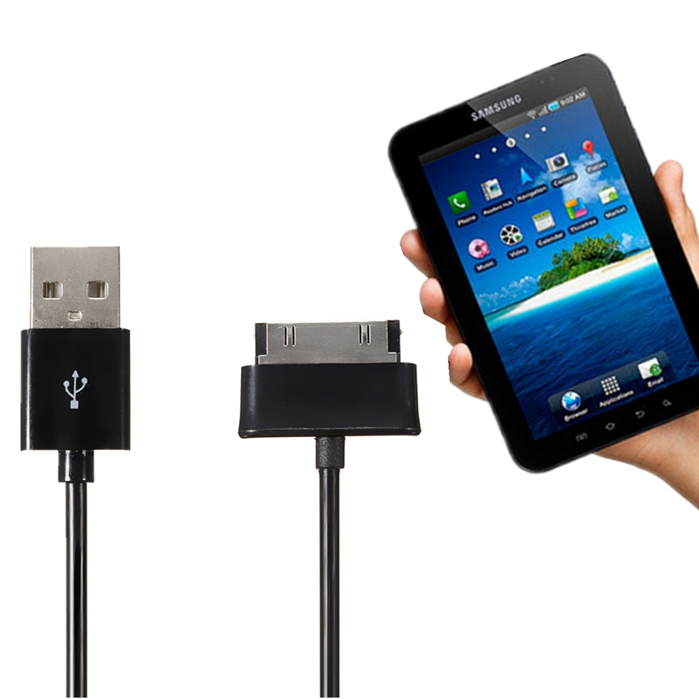 USB Data Sync Charger Cable for Samsung Galaxy Tab Tablet 7 8.9 10.1 P5100 P510