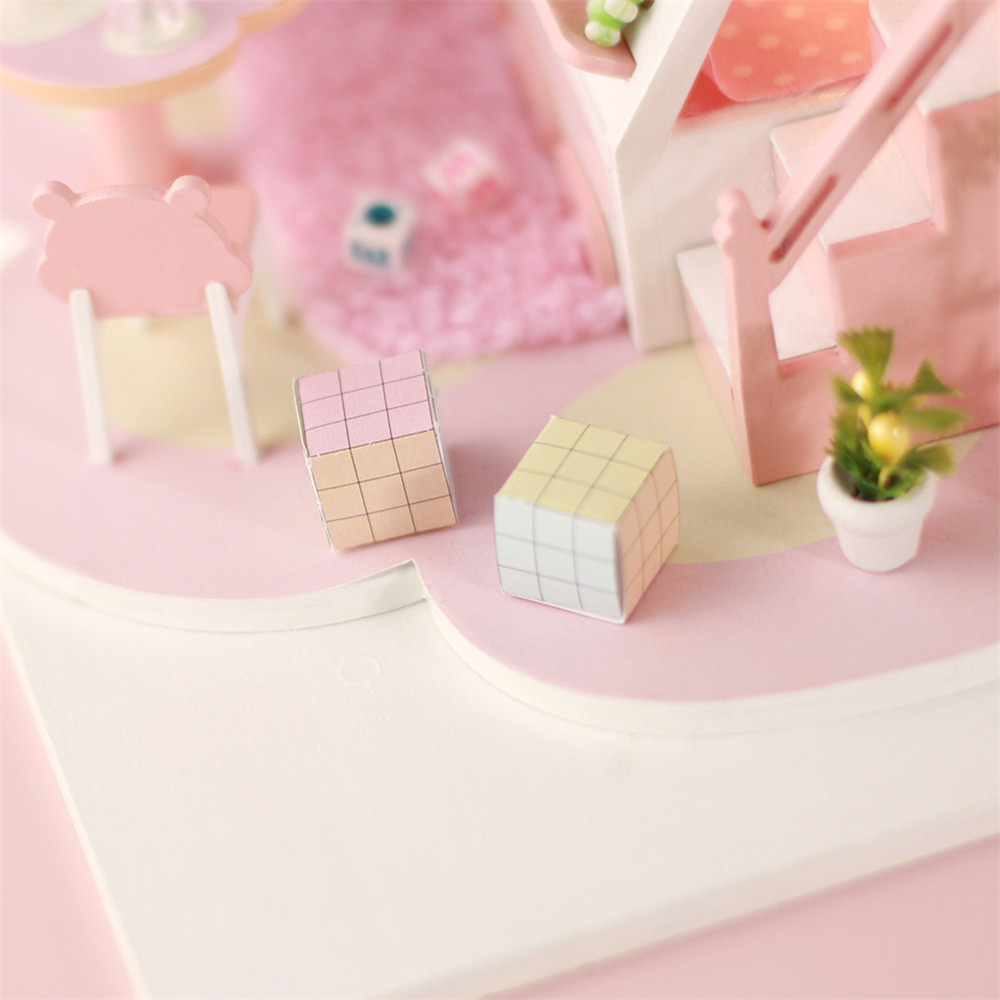Iie Create DIY Cottage Hand-Assembled Doll House Bear Dream Factory Model P001 - Photo: 7