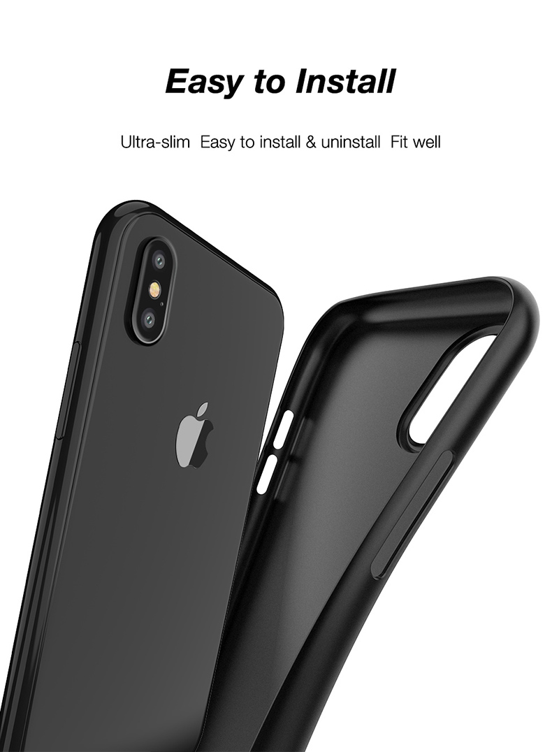 Cafele 0.4mm Ultra Thin Micro Matte Anti Fingerprint PP Case For iPhone X