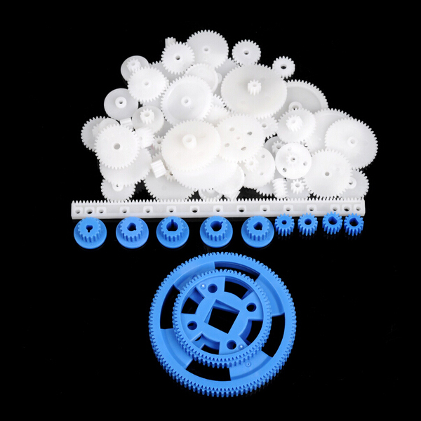 69pcs Plastic Gear Motor Gear DIY Gear Box Robot Model Single Double Layer Crown Gear Spindle Set