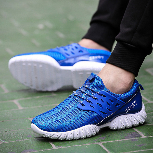 Men Athletic Sneakers Lace Up Breathable Running Walking Sport Shoes