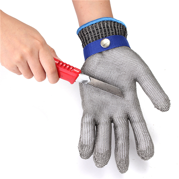 Grade 5 Safety Cut Proof Stab Resistant Stainless Steel Wire Metal Mesh Glove S