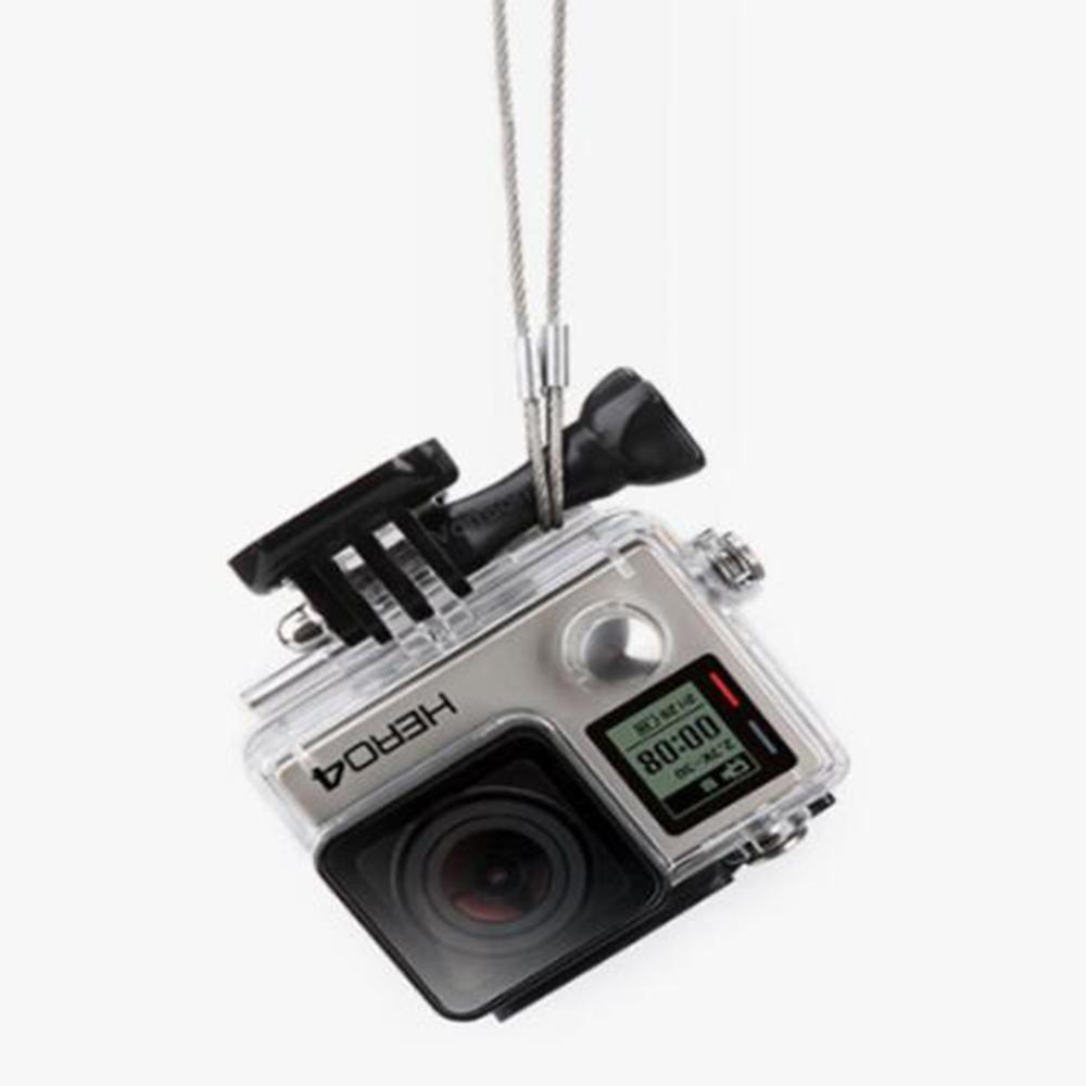 20cm Safety Lanyard Stainless Steel Lanyard Tether for GOPRO Hero 8 7 6 5 4 3/XiaoYi/SJcam/DJI OSMO Action camera Accessories