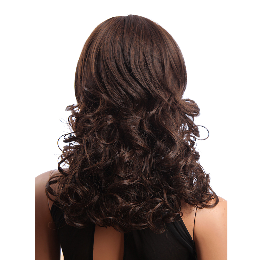 10 Inch Long Curly Kanekalon Synthetic Hair Wigs Bang Lady