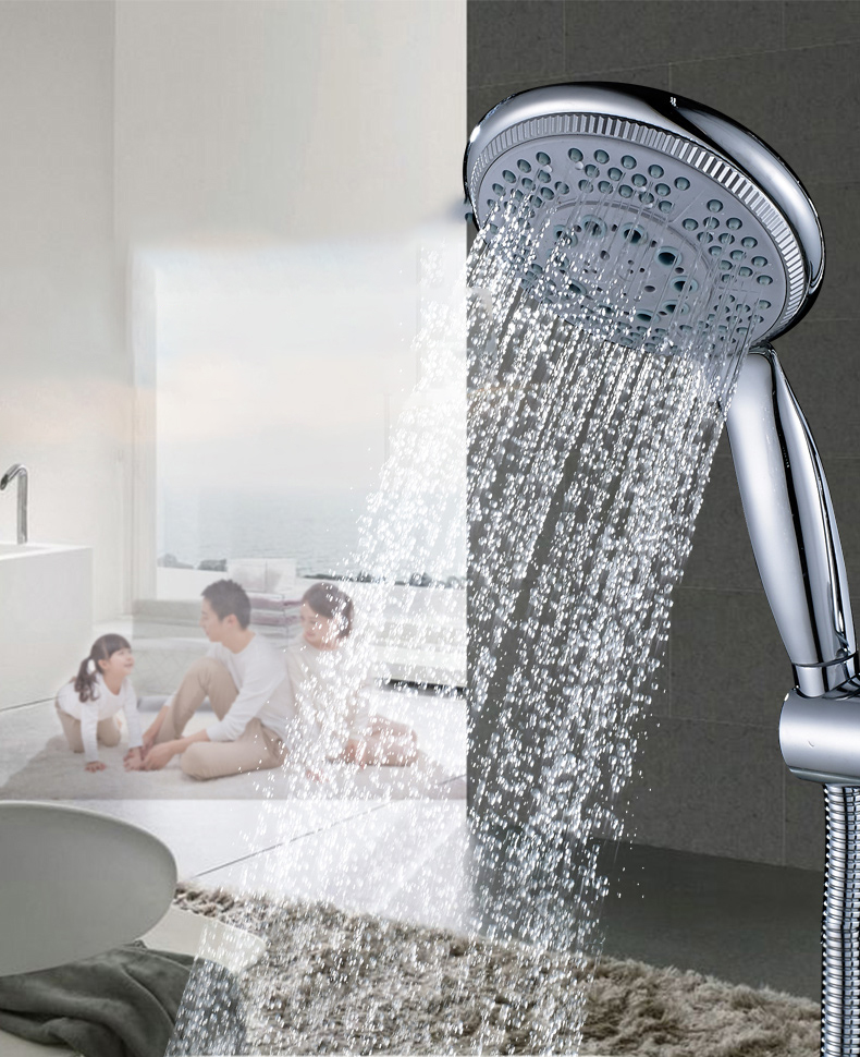 KCASA KC-SH448 Handheld Adjustable Shower Head 5 Mode SPA Pressurize Filtered with Switch Control Bathroom Shower Head