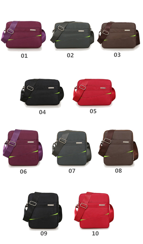 Women Nylon Messenger Bags Outdoor Sports Light Shoulder Bags Crossbody Bags
