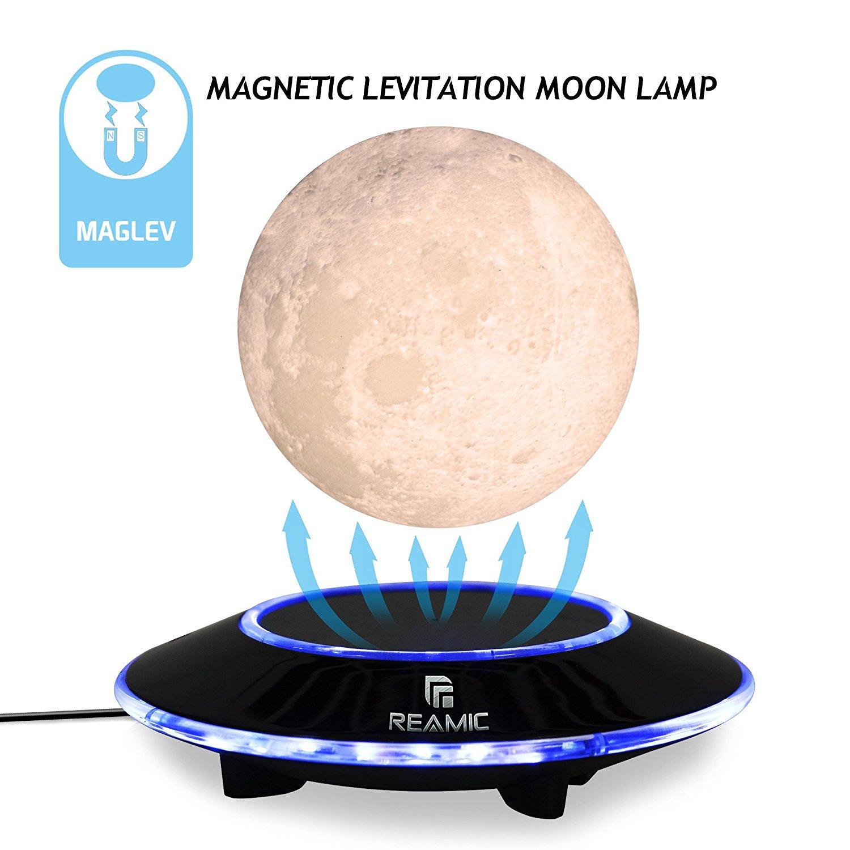 3D Magnetic Levitation Moon Floating Touch Led Night Light Desk Lamp 15cm