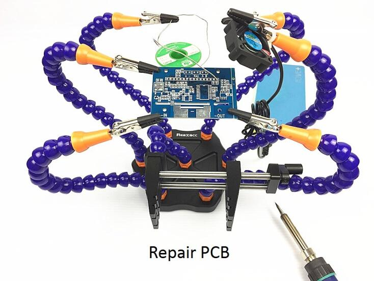 Realacc V2 Strange Third Hand Seven Arm Soldering Station with USB Fan Caliper for RC Drone FPV Racing