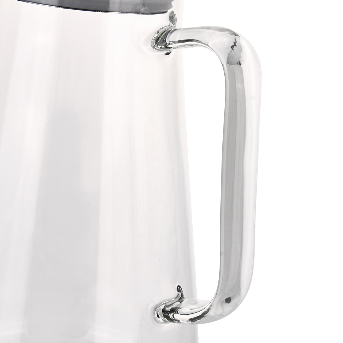 1.5L Clear Glass Pitcher Jug Water Drinking Tea Pot Carafe Stainless Steel Lid