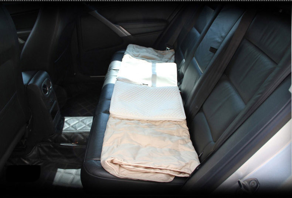 Microfiber Leather Car Seat Lumbar Cushion Air-condition Folding Quilt Blanket Waist Supports Pillow