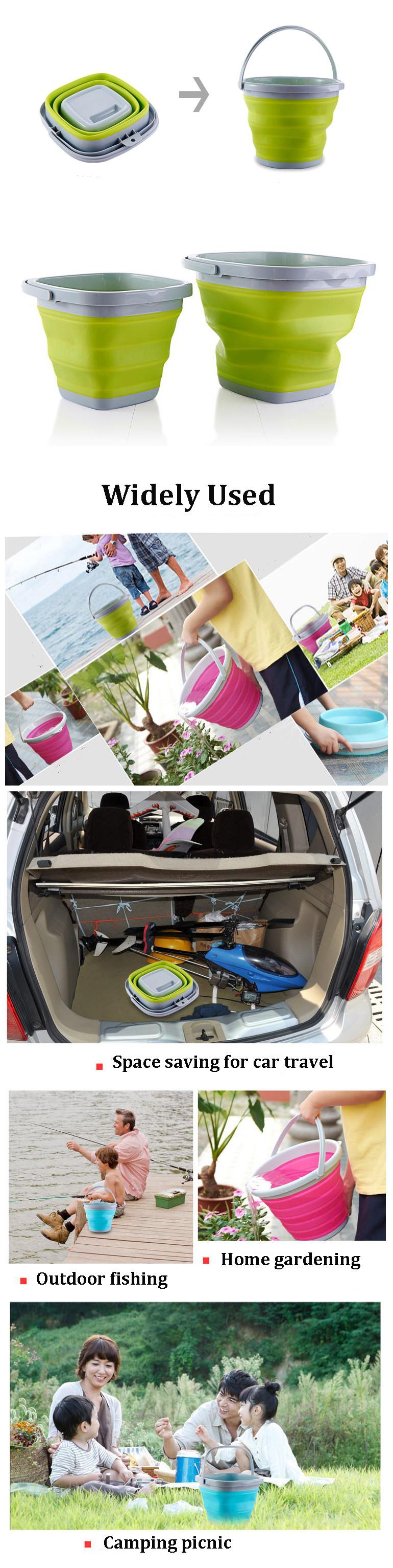 IPRee™ 5L 10L Portable Folding Bucket Retractable Silicone Barrel Camping Travel