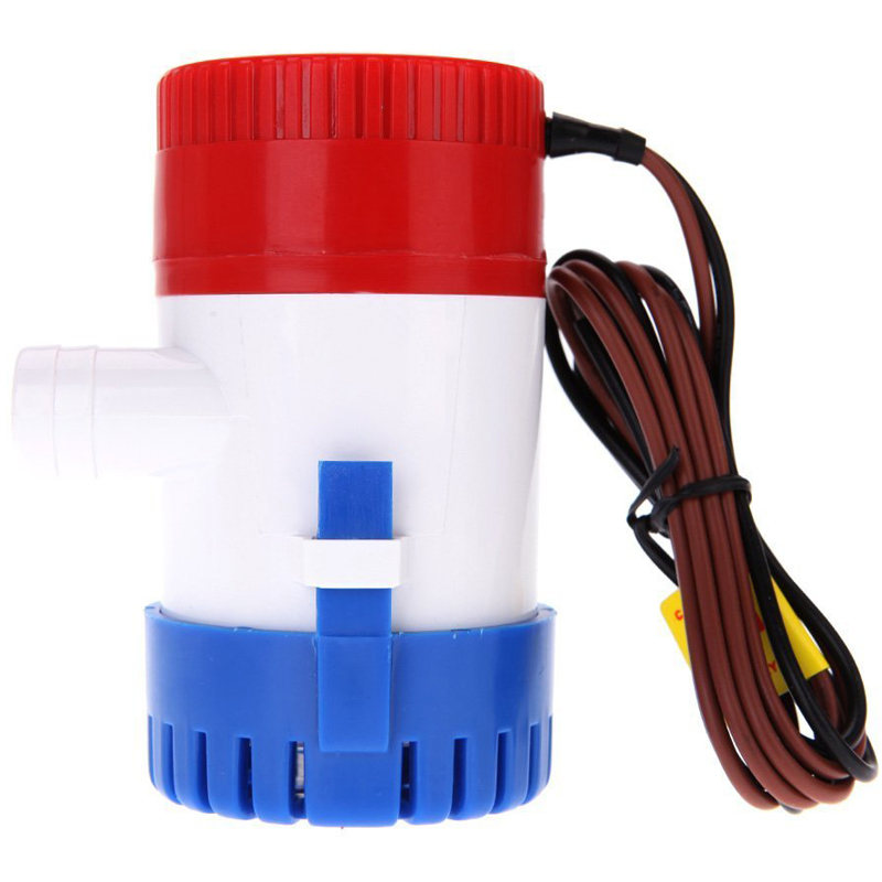 12V 750GPH Bilge Pump Marine Boat Submersible Nonautomatic Water Pump Marine Fishing Boat