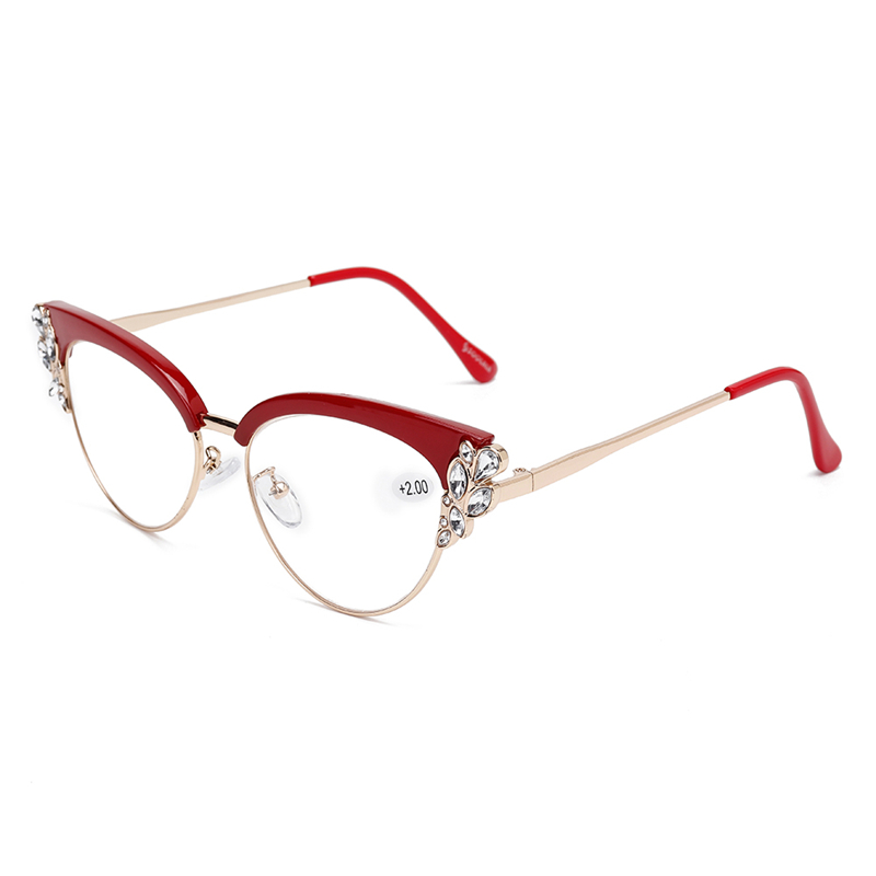 Women Ultra-Light Cat Eye Frame Optical Glasses