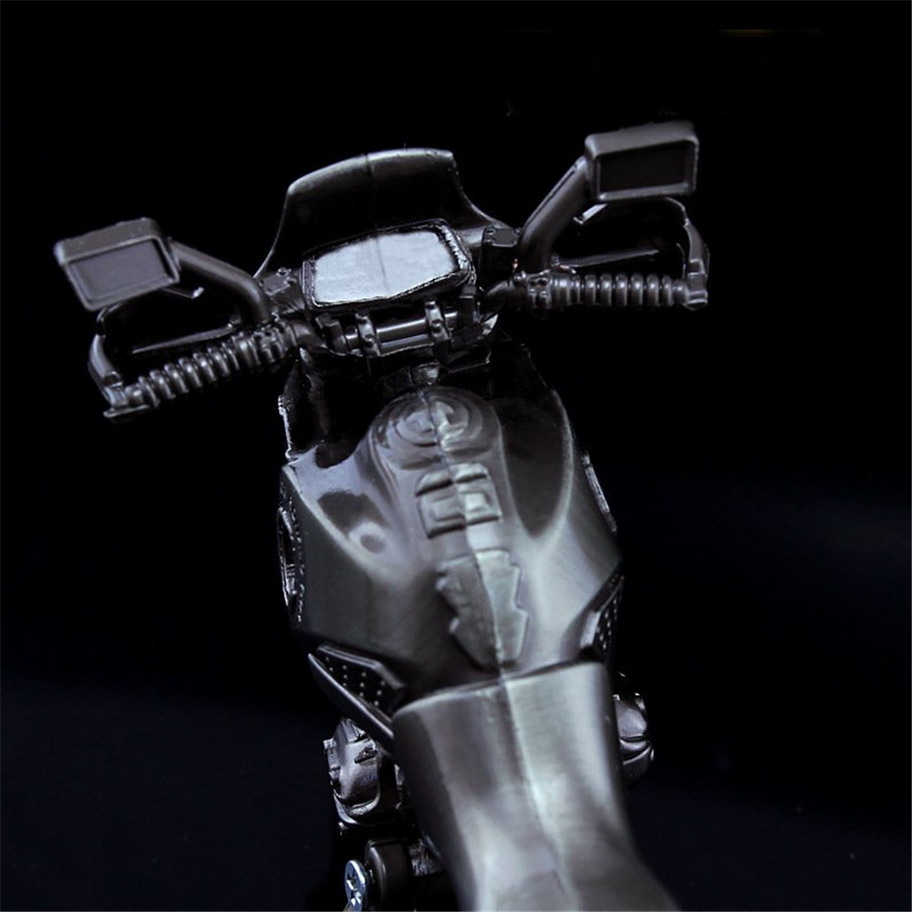 4.5Inches Cool Black Motor Diecast Model Toy Metal Motorcycle Motorbike