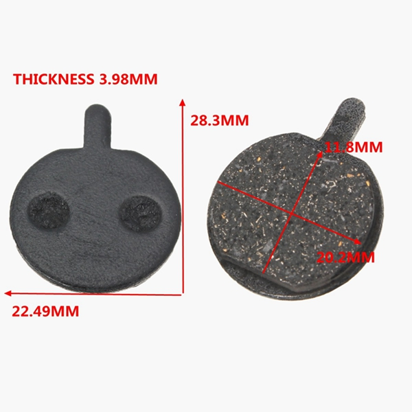 2 Pair Of Round Mountain Road Bike Cycling Bicycle MTB Disc Brake Pad Replacement