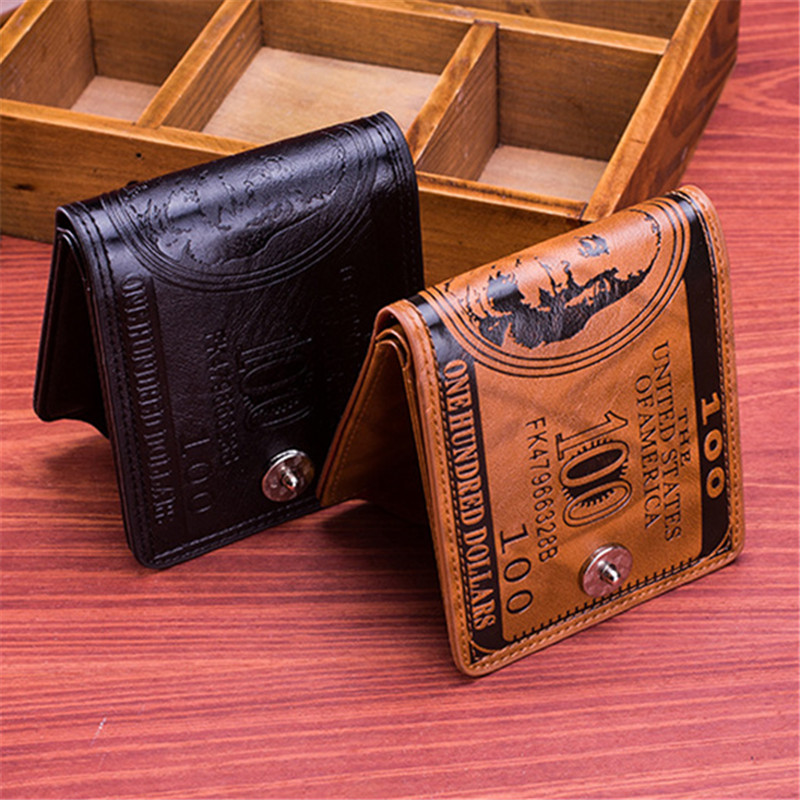 PU Leather Portable Purse 9 Card Holders Wallet For Men