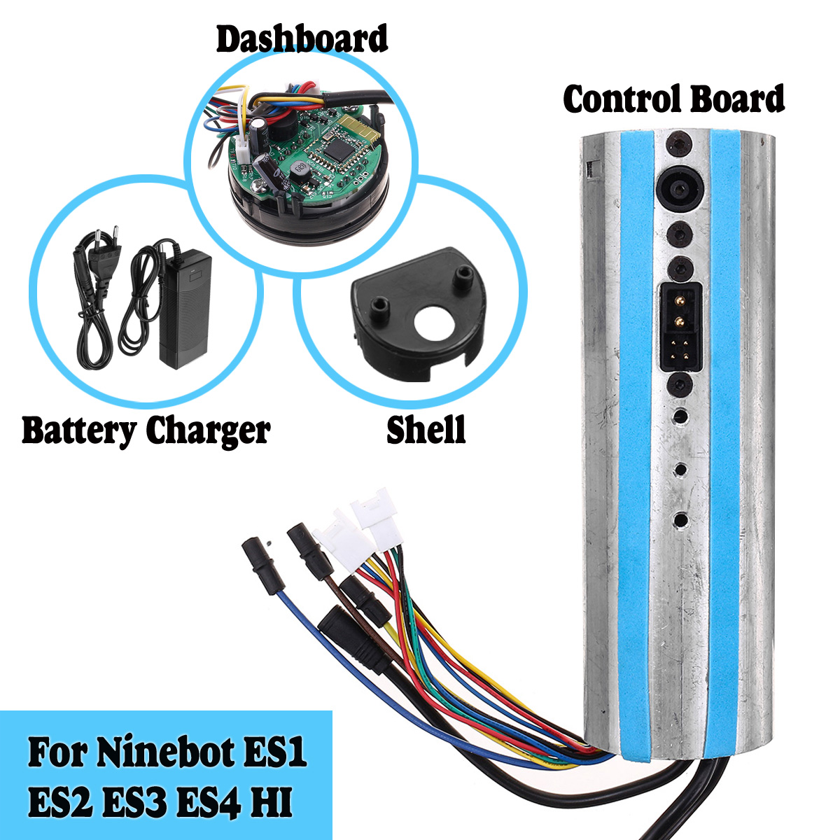 Activated bluetooth Controller Board Dashboard Charger For Ninebot ES1 ES2 ES3 ES4 Scooter