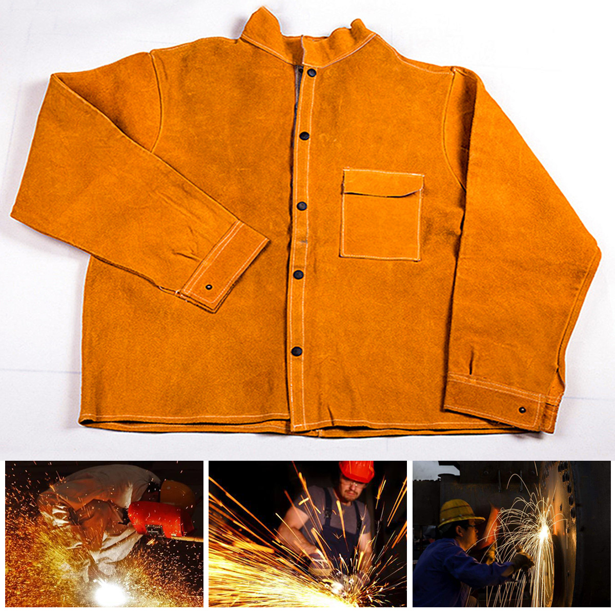 L/ XL/ XXL/ XXXL Welders Welding Jacket Protective Clothing Apparel Suit Safety
