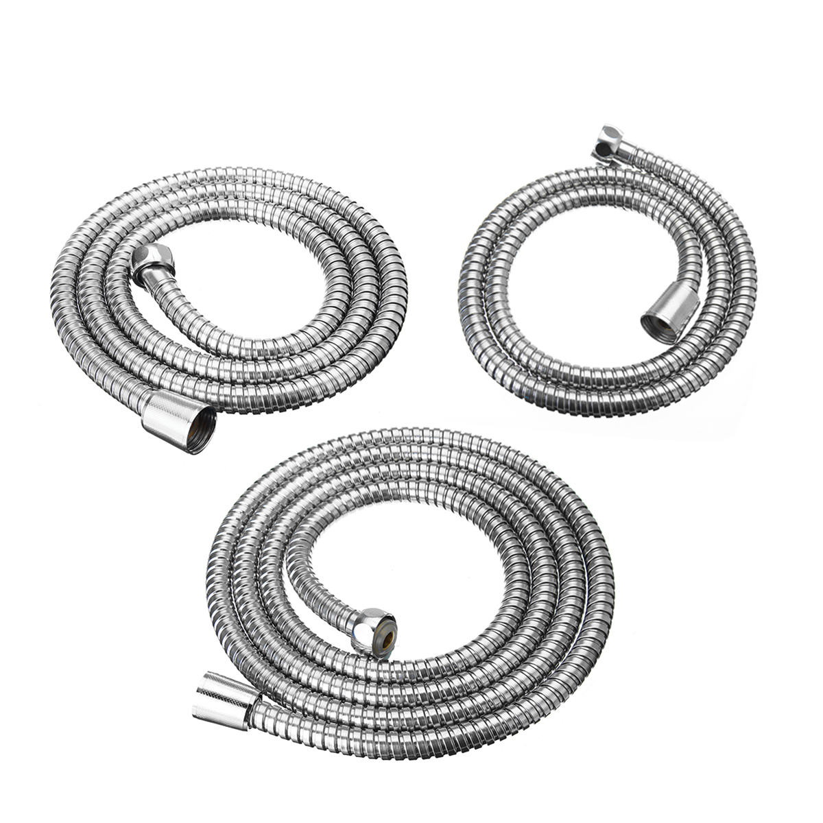 Shower Head Hand Held Flexible Bathroom Shower Hose Stainless Pipe