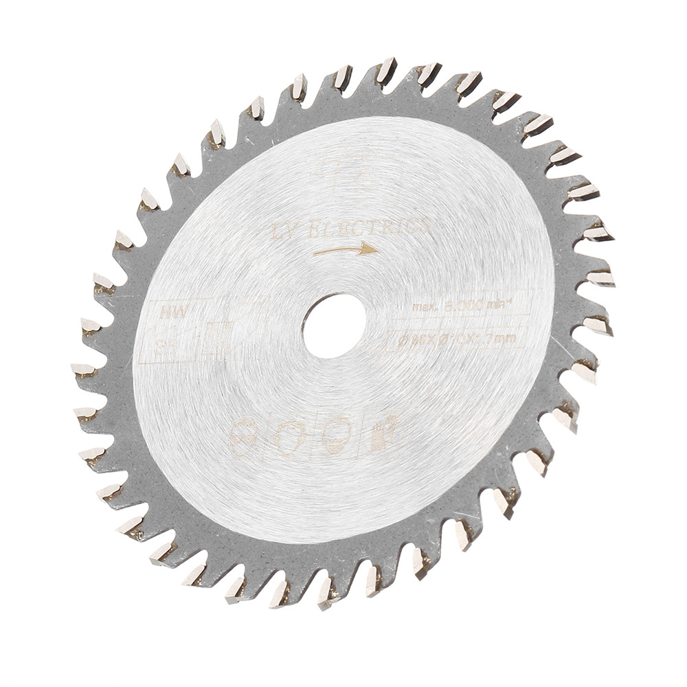 Drillpro 85mm Saw Blade 36 Teeth Circular Cutting Disc 10mm Bore 1.7mm Thickness Woodworking