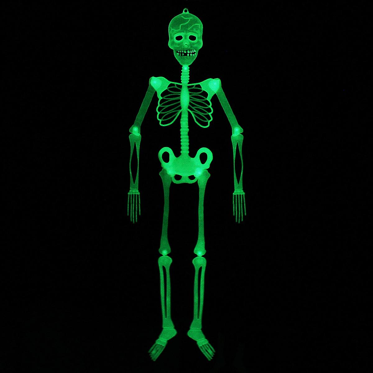 90cm / 150cm Halloween Prop Luminous Human Skeleton Hanging Decorations