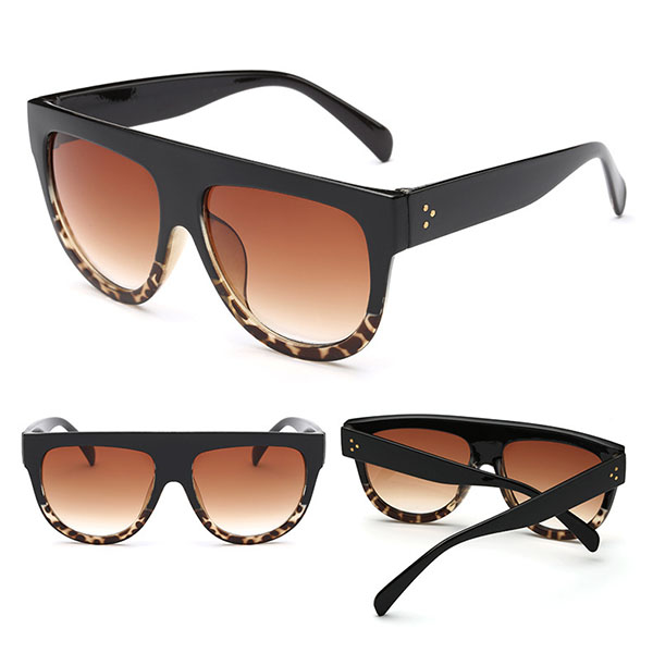 Women Unisex Anti-UV Sunglasses Outdoor Casual Large Frame Vintage Glasses
