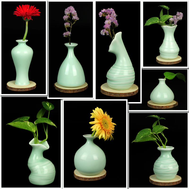 Clear Glass Vase With Wooden Bottle Cap Cutting Vase Flower Arrangement Home Decor Ornaments