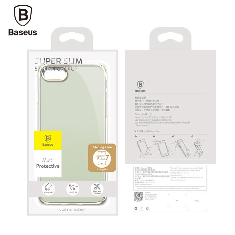 Baseus Plating Arc-edge Ultra Thin Transparent Soft TPU Case for iPhone 7 Plus 5.5 Inch