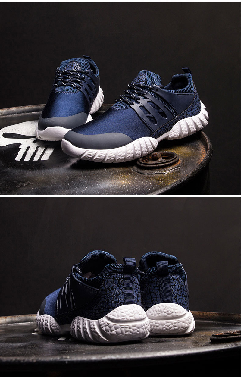 X8078 Men Lace-up Lightweight Comfortable Breathable Sport Running Shoes Sneakers