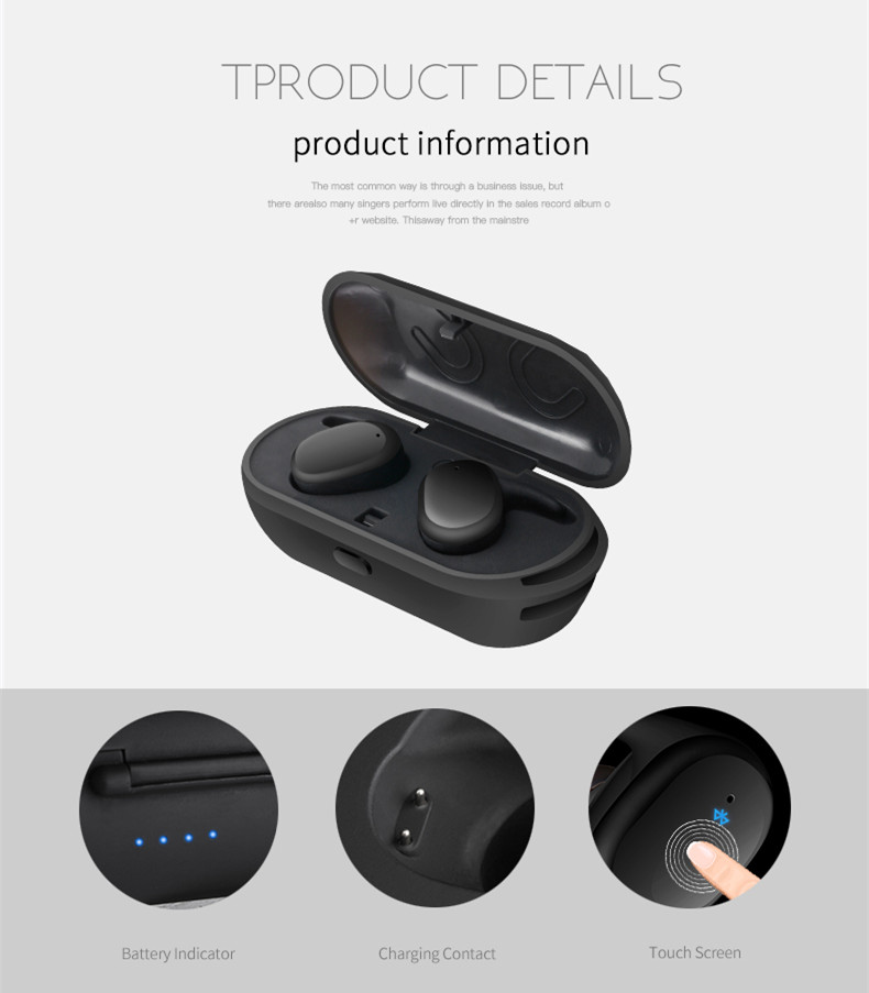 [Truly Wireless] Sport Stereo Stealth Waterproof Wireless Bluetooth Dual Earphones Headphones