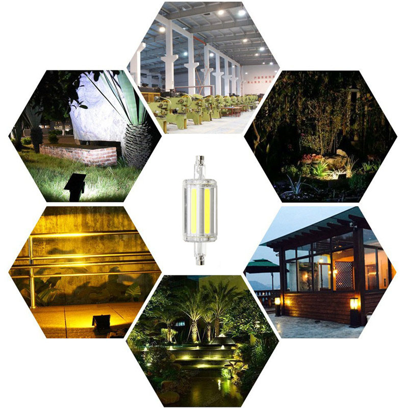 R7S 8W COB Yes/No Dimmable Pure White Warm White LED Corn Light Bulb AC85-265V