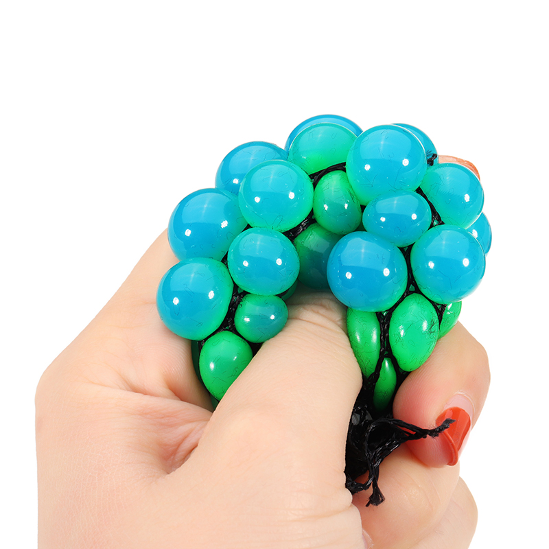 Squishy Random Colour Mesh Stress Relief Toy Squeeze Stress Ball Party Bag Fun Gift