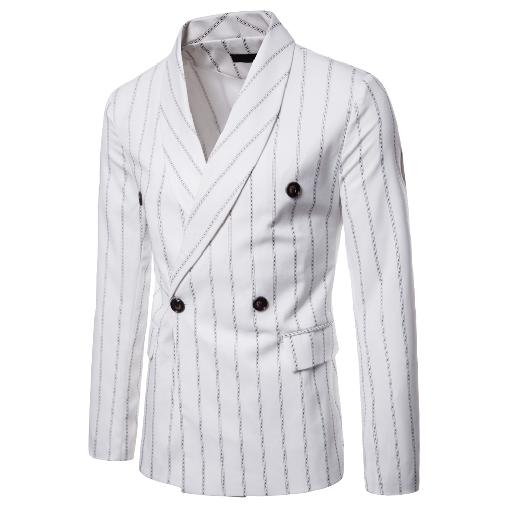 Stripe Printing Fashion Suit Coats for Men