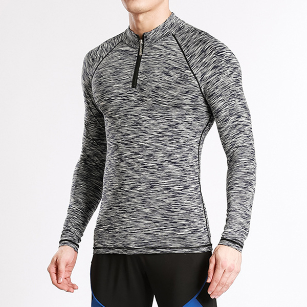 Mens Fitness Tight Sportswear Training Elastic Sport Slim Fit Pullover Sportswear