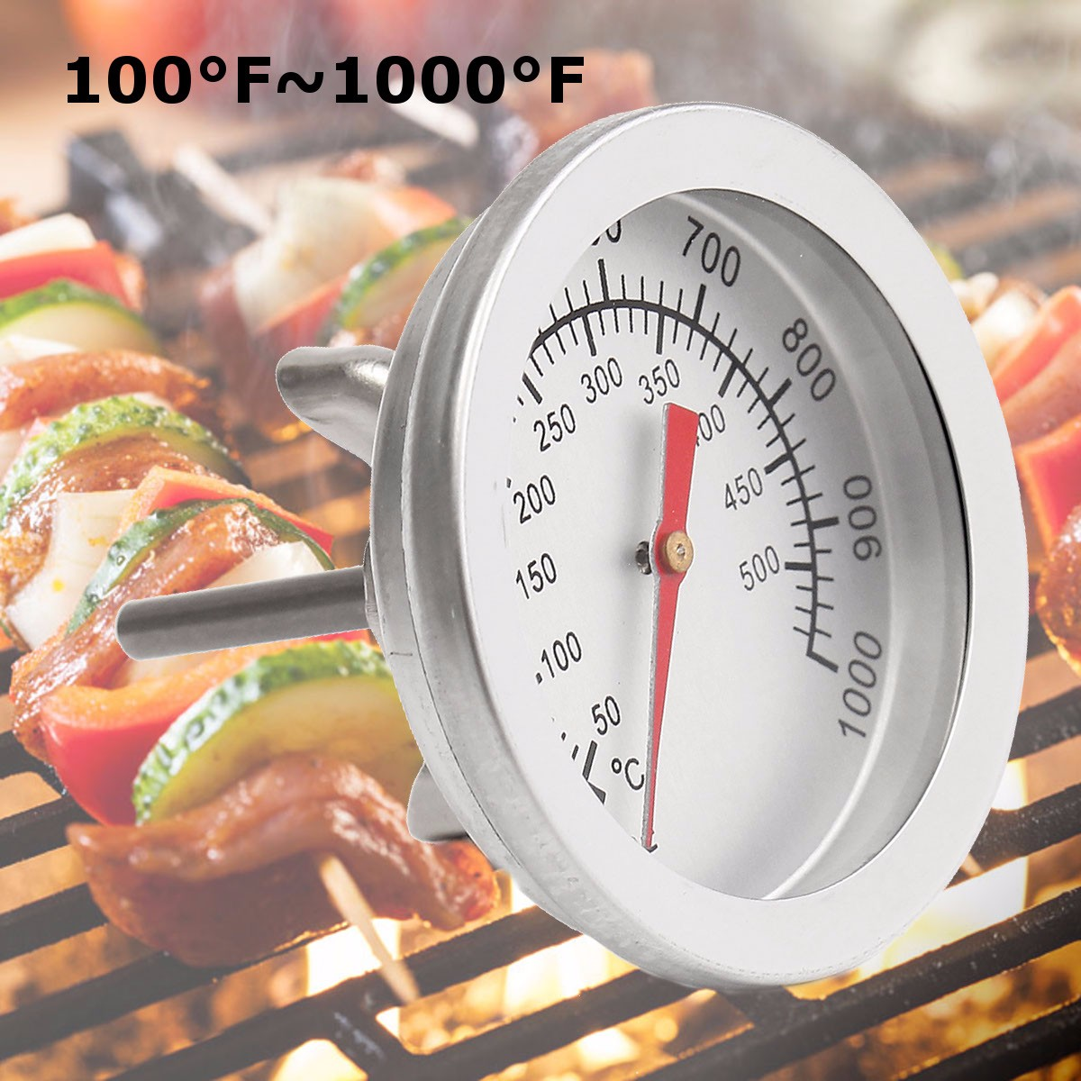 55mm Stainless Steel Thermometer Water Temperature Detector Double-scale