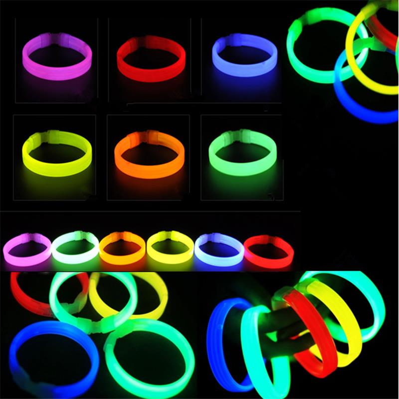 100pcs Wholesale LED Flashing Light Novelty Toys Glow Stick for Festivities Decoration