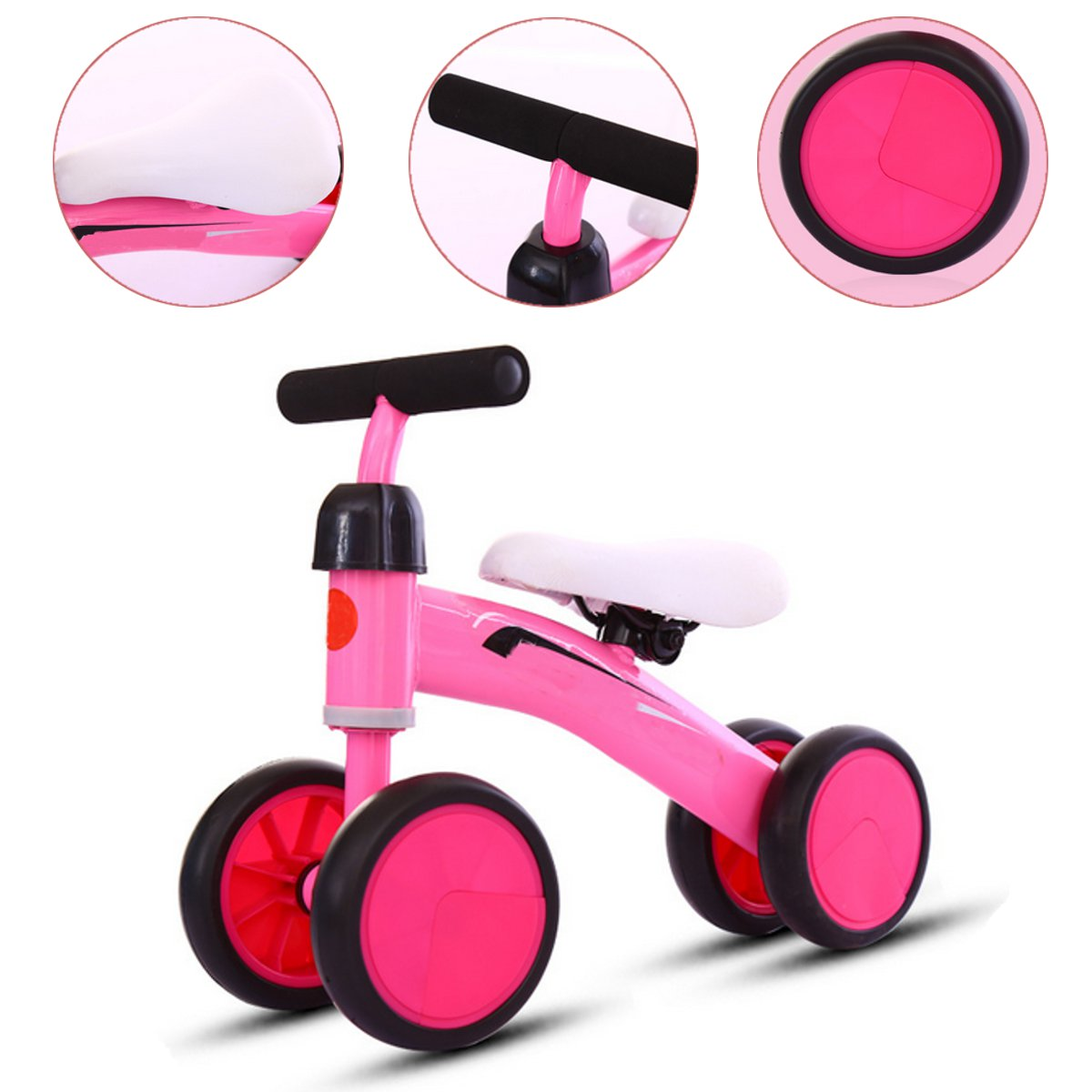 Baby Balance Bikes Bicycle Children Walker No Foot Pedal Infant Four Wheels First Bike