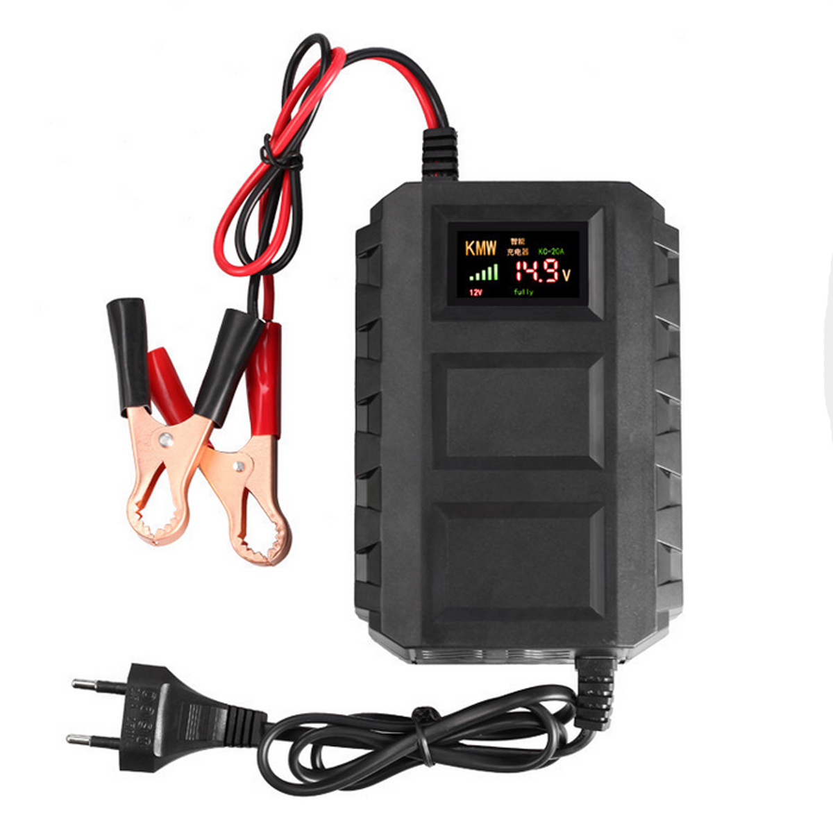 Intelligent LCD 12V 20A Car Auto Battery Lead Acid Charger Automobile Motorcycle