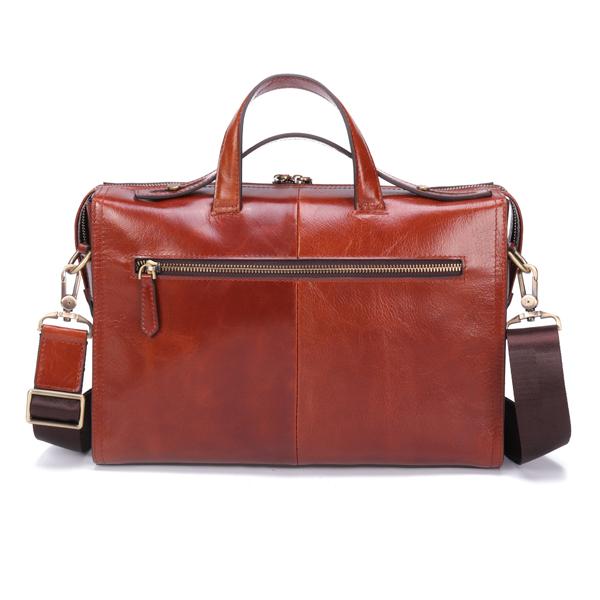 Ekphero Men Genuine Leather Handbag Shoulder Bag Business Briefcase Laptop Bag