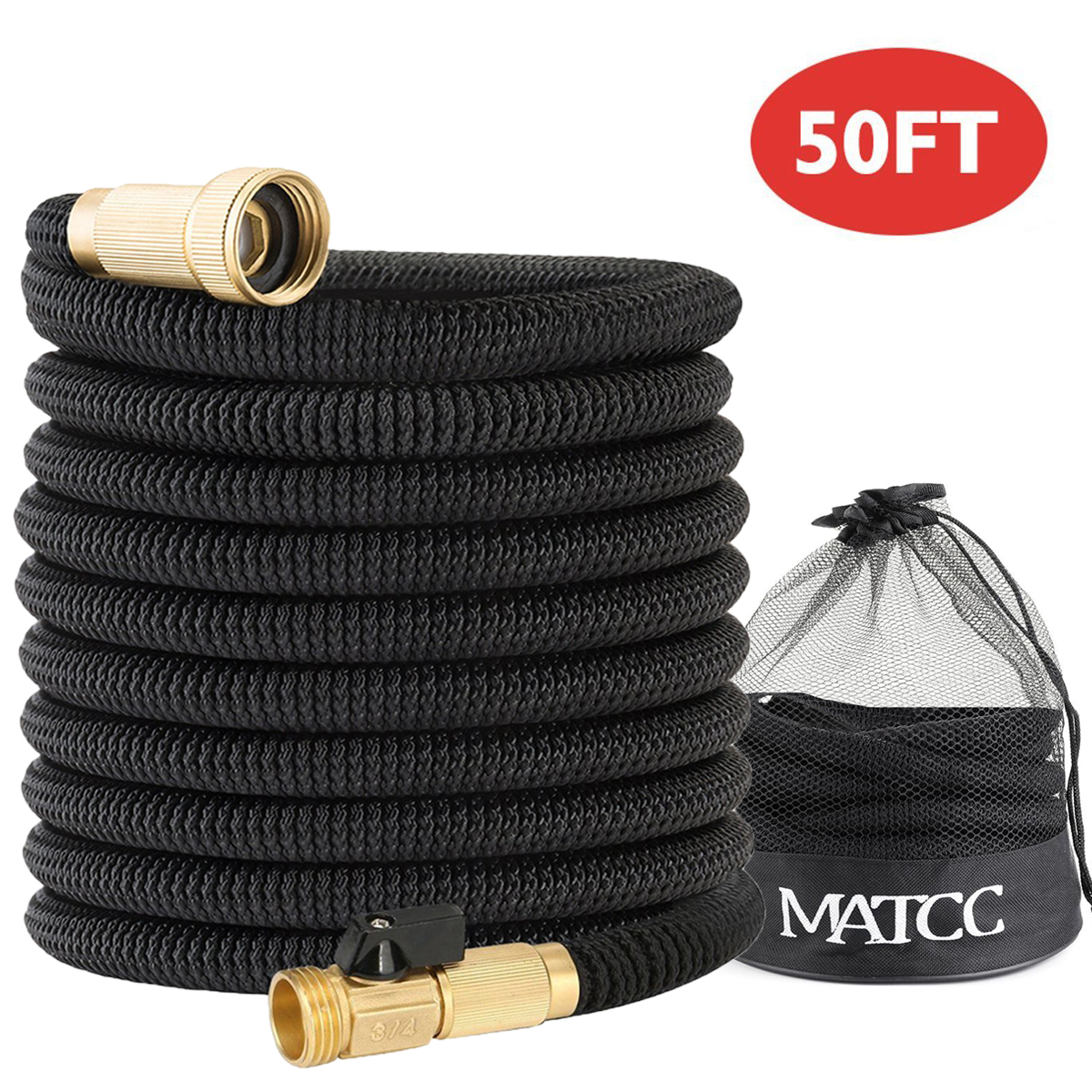 Garden 50 Feet Expandable Hose 3/4'' Water Pipe Solid B